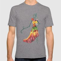 Female Floral Mens Fitted Tee Tri-Grey SMALL