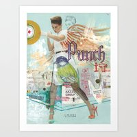 Punch It Art Print