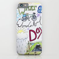 iPhone & iPod Case featuring What a Wonderful Day by KristinMillerArt