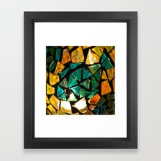 Broken Glass Framed Art Print