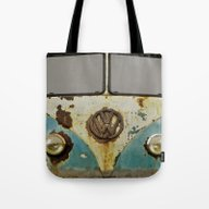 Tote Bag featuring VW Rusty by Alice Gosling