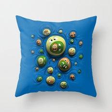 Emoticontagious Throw Pillow
