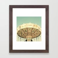 Fair Ride In Aqua Framed Art Print