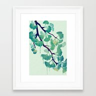 O Ginkgo (in Green) Framed Art Print