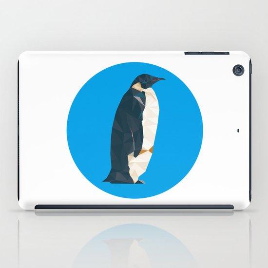 cyan penguin iPad Case