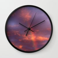 Dramatic Rainbow Wall Clock