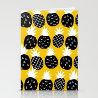 Black pineapple. Stationery Cards