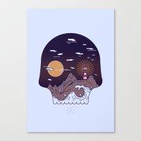 Skull Pier Canvas Print