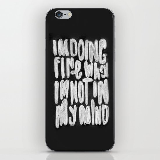 Doing Fine iPhone & iPod Skin