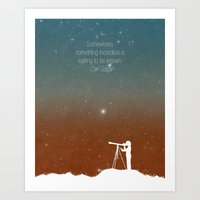 Through the Telescope Art Print