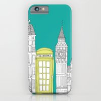 iPhone & iPod Case featuring London - City prints // Red Telephone Box by bluebutton studio