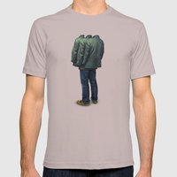 Surrounded Mens Fitted Tee Cinder SMALL