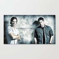 Supernatural - Sam & Dea… Canvas Print