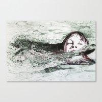 Go Swimming Canvas Print