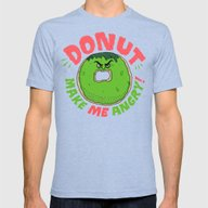 Donut Make Me Angry! Mens Fitted Tee Tri-Blue SMALL