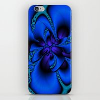 blue larkspur butterfly iPhone & iPod Skin