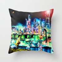The Young Lady's Illustrated Primer — The Diamond Age Throw Pillow