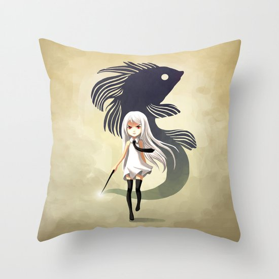Black Moor Throw Pillow