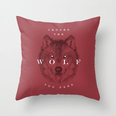 Choose the Wolf You Feed Throw Pillow