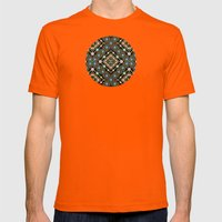 Millefiori Floral Lattice Mens Fitted Tee Orange SMALL