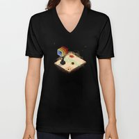 In The Rays Of A Cloudle… Unisex V-Neck