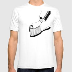 Good Morning White Mens Fitted Tee SMALL