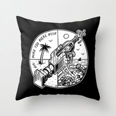 Wish you were Beer Throw Pillow