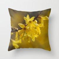 Gold Regen Throw Pillow