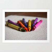 Crayon Love - Ready Set … Art Print