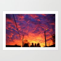 Street lamp glow  Art Print