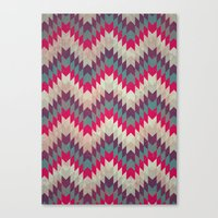 Chevron pattern_purple, blue and pink Canvas Print