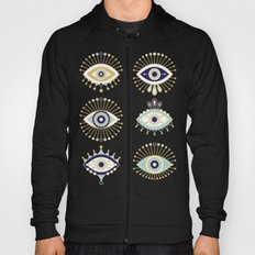 Evil Eye Collection on White Hoody