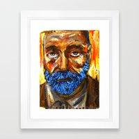 L'incendie du Roi Gris Framed Art Print
