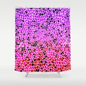 THINK LILAC CORAL Shower Curtain