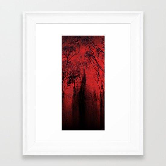 Blood red sky Framed Art Print