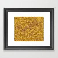Yellow Seeds Framed Art Print