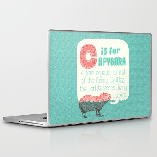 C is for Capybara Laptop & iPad Skin
