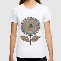 Fabby Flower-Vintage colors Womens Fitted Tee Ash Grey SMALL
