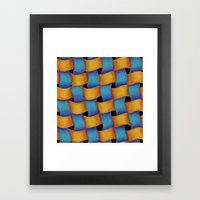 Woven - Pattern Painting Framed Art Print