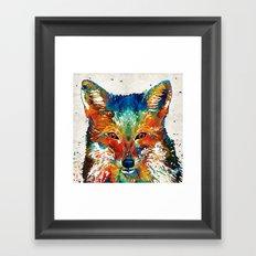 Colorful Fox Art - Foxi … Framed Art Print