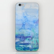 Watercolor Blue iPhone & iPod Skin