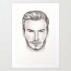 David Beckham Art Print