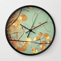 Golden Aspen Wall Clock
