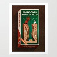 Abandoned Mine Shaft Art Print