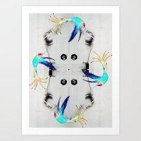 Dancing on the bones Art Print