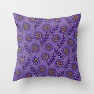 Doodle Flower 4 Throw Pillow