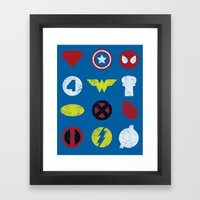 Super Simple Heroes Framed Art Print