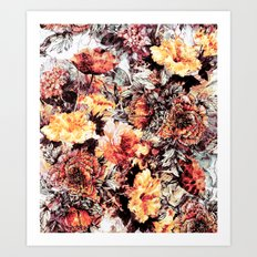 RPE FLORAL ABSTRACT Art Print