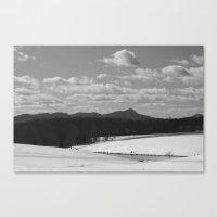 Sauratown Mountain Range Snow Canvas Print