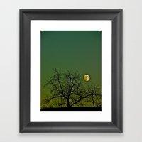 Tangled Tree Moon Framed Art Print
